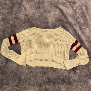 Knit crop top sweater